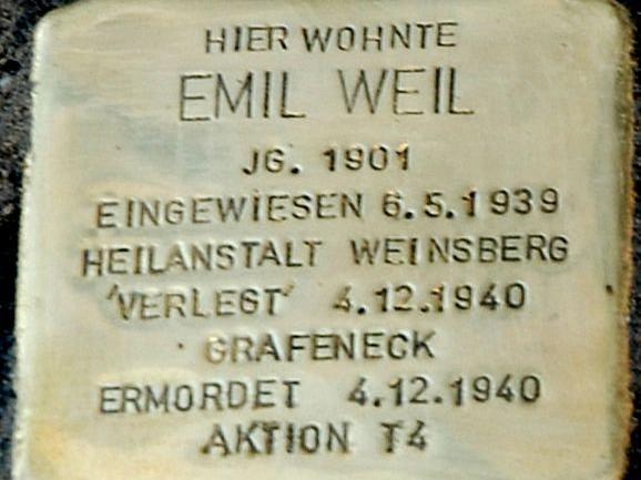 Emil Weil Stolperstein